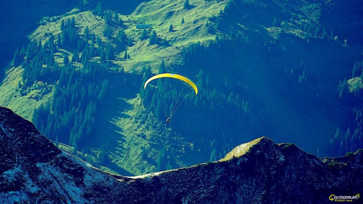 Oberstdorf Nebelhorn Gleitschirmflieger