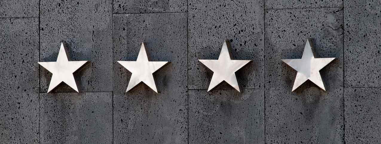 Sterne Hotel oder Kundenbewertungen